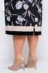 Платье La rouge 5302 черный-(голубой)