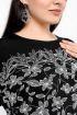 Платье La rouge 5314 черно-белый-(цветы)