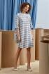 Платье Rami 5066 серая_полоска