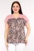Блуза La rouge 6150 розовый-набивной