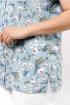 Блуза La rouge 6151 небесно-голубой-(тюльпаны)