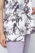 Блуза La rouge 6152 белый-(цветы)