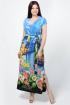Платье La rouge 50460 синий-(Венеция)