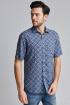 Рубашка Nadex 01-018222/513_170 сине-бежевый