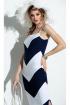 Платье Diva 1298 белый-синий
