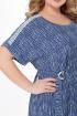 Платье Мишель стиль 956 бело-синий