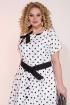 Платье Liliana 945 белый+черный
