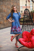 Платье Edibor 1084/2 голубой
