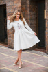 Платье Edibor 1094 молочный