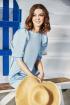 Платье ELLETTO LIFE 1834 голубой