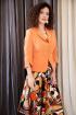 Жакет,  Платье Мода Юрс 2527-1 оранжевый