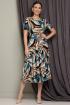 Жакет,  Платье Мода Юрс 2513-1 морская_волна