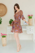 Платье Claire 2407 бежево-коричневый
