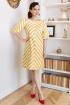 Платье Мода Юрс 2677 желтая_полоска