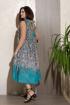 Платье Condra 4323 бирюзовый-черный