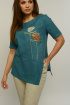 Блуза,  Брюки MALI 721-037 бирюзовый+натуральный