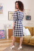 Платье Мода Юрс 2674 синий_клетка