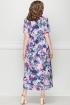 Платье LeNata 13025 фиолетовые-цветы