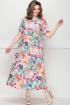 Платье LeNata 13025 розовые-цветы