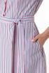 Платье Anelli 665 красная-полоска