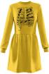 Платье Rawwwr clothing 009.014-начес желтый