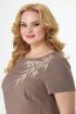 Платье Anelli 470 коричневый+бирюза
