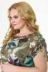 Платье Anelli 718 зеленый_фон