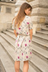 Платье Mirolia 899 бежевый-принт