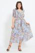 Платье Mubliz 549  голубой_цветы