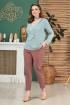 Блуза Anastasiya Mak 804 серо-мятный