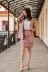 Жакет,  Юбка S.O.L O Me 846 розово-бежевая_клетка