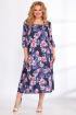Платье Angelina & Сompany 516 синие_орхидеи