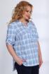 Блуза,  Шорты Angelina & Сompany 532 голубой-темно_синий