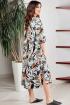 Платье Teffi Style L-1501 рисованные_цветы