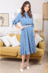 Платье Мода Юрс 2481 светло-синий_горох