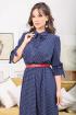Платье Мода Юрс 2481 темно-синий_горох