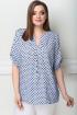 Блуза LeNata 11750 голубой-в-горох