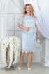 Платье Ninele 5843 белый_голубой