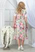 Платье Ninele 7322 зеленые_розы