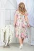 Платье Ninele 7325 зеленые_розы