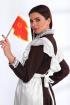 Платье, Фартук Angelina & Сompany 536 шоколад-белый