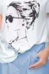 Блуза,  Кюлоты LeNata 21193 лаванда