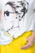 Блуза,  Кюлоты LeNata 21193 желтый