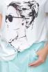 Блуза,  Кюлоты LeNata 21193 светло-голубой
