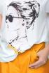 Блуза,  Кюлоты LeNata 21193 оранжевый