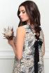 Платье LeNata 11207 на-бежевом-рисунок