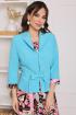 Жакет,  Платье Мода Юрс 2513-1 бирюза-розовый