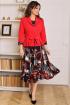 Жакет,  Платье Мода Юрс 2513-1 красный-черный