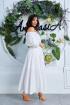 Платье,  Пояс Anastasia 629 белый