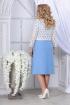 Блуза,  Платье Ninele 5834 голубой_белый